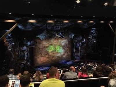 Gershwin Theatre, sección: Rear Mezzanine, fila: G, asiento: 15