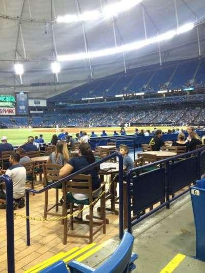 Tropicana Field, sección: 131, fila: H, asiento: 10