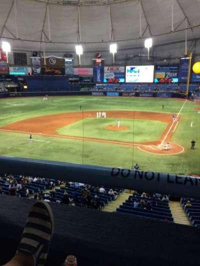 Tropicana Field, sección: 205, fila: A, asiento: 2