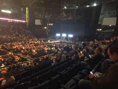 Bridgestone Arena, sección: 104, fila: F, asiento: 22