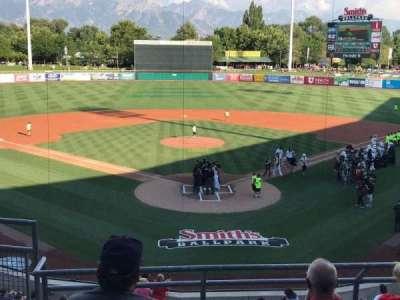 Smith's Ballpark, sección: 109, fila: 5, asiento: 16