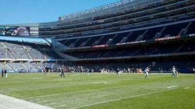 Soldier Field, sección: field, west sideline