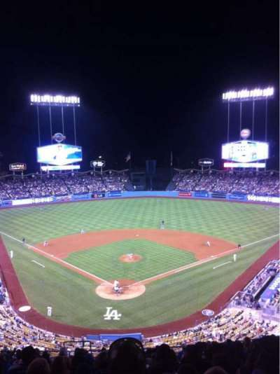 Dodger Stadium, sección: 2RS, fila: S, asiento: 4