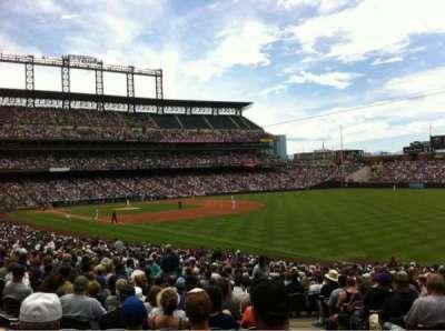Coors Field, sección: 114, fila: 34, asiento: 1