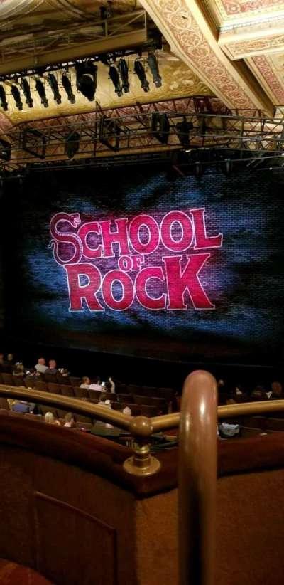 Winter Garden Theatre, sección: Mezz Right, fila: B, asiento: 2