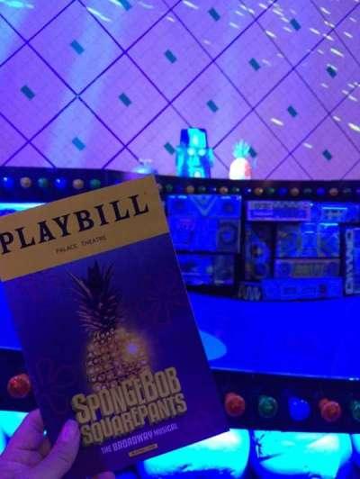 Palace Theatre (Broadway), sección: Orch Center, fila: B, asiento: 101