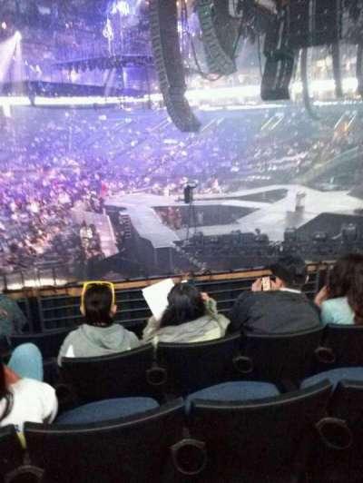 Oracle Arena, sección: 124, fila: 21, asiento: 17