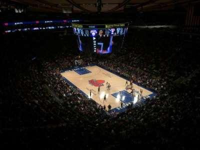 Madison Square Garden, sección: 318, fila: 2, asiento: 1