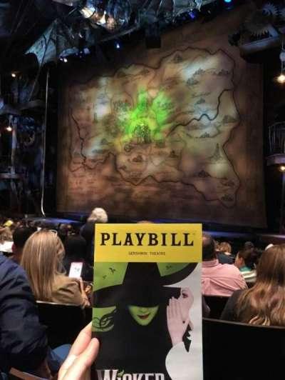 Gershwin Theatre, sección: Orchestra R, fila: G, asiento: 12