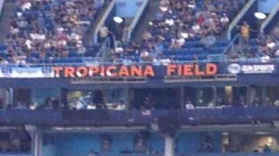 Tropicana Field, sección: 143, fila: Y, asiento: 1