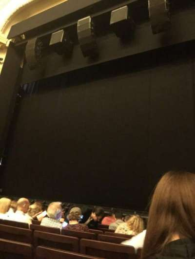 Hudson Theatre, sección: Orchestra, fila: H, asiento: 121