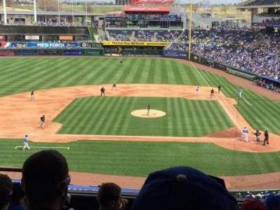 Kauffman Stadium, sección: 309, fila: F, asiento: 5