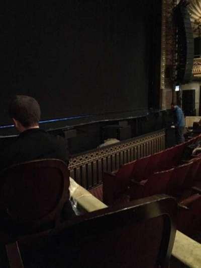 Palace Theatre (Broadway), sección: Orch, fila: E, asiento: 1