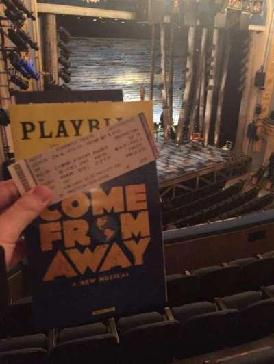 Gerald Schoenfeld Theatre, sección: Mezz, fila: E, asiento: 25