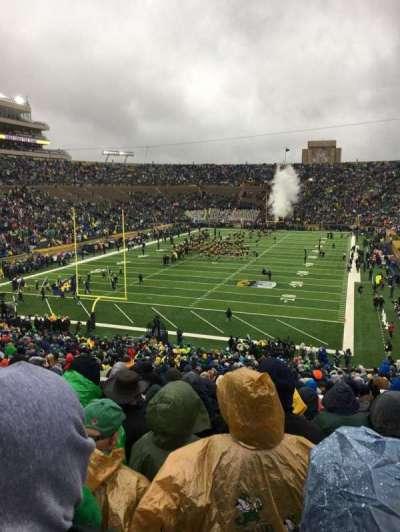 Notre Dame Stadium, sección: 17, fila: 56, asiento: 32