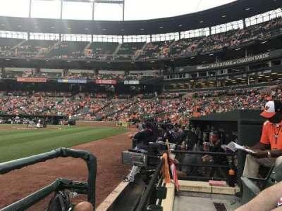 Oriole Park at Camden Yards, sección: 54, fila: 1, asiento: 5