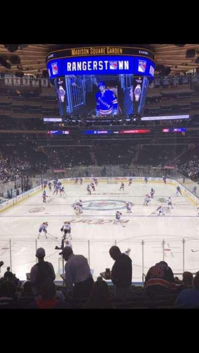 Madison Square Garden, sección: 112, fila: 21, asiento: 19