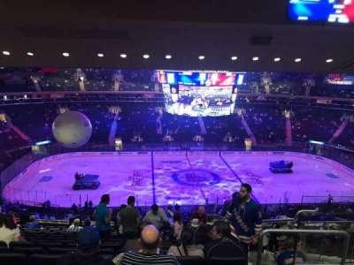 Madison Square Garden, sección: 210, fila: 15, asiento: 17