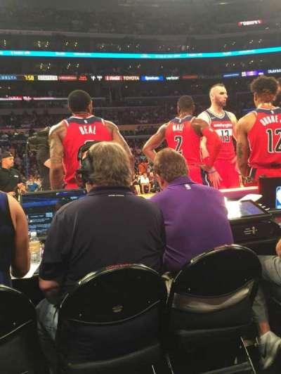 Staples Center, sección: 101, fila: A, asiento: 16-17