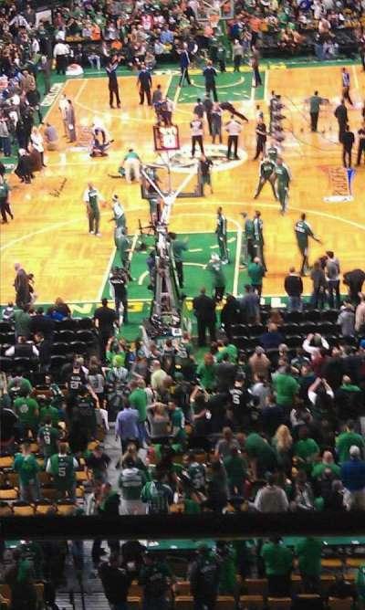 TD Garden, sección: 323, fila: 2, asiento: 12