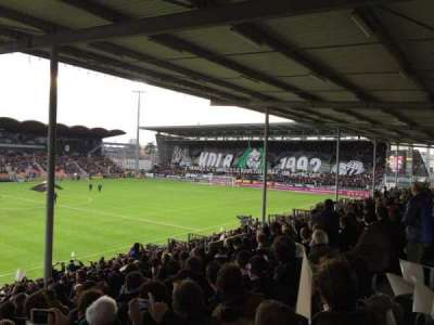 Stade Jean Bouin, sección: St Leonard Laterale, fila: V, asiento: 169