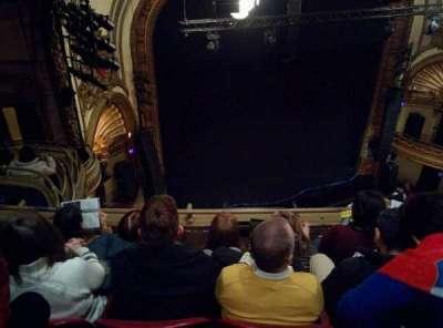 Palace Theatre (Broadway), sección: Balcony Left, fila: D, asiento: 19