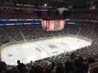 T-Mobile Arena, sección: 202, fila: G, asiento: 3