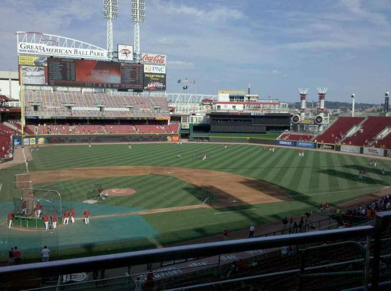 Vistas desde el asiento para Great American Ball Park Sección 301