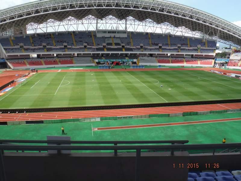 Vistas desde el asiento para Estadio Nacional de Costa Rica Sección Sombra Este E-23 Fila H Asiento 16