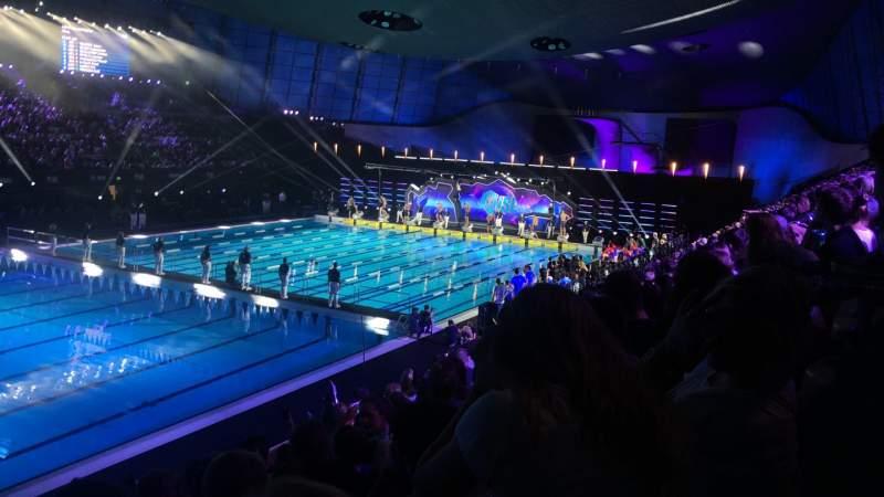 Vistas desde el asiento para London Aquatics Centre Sección F Fila 8 Asiento 163