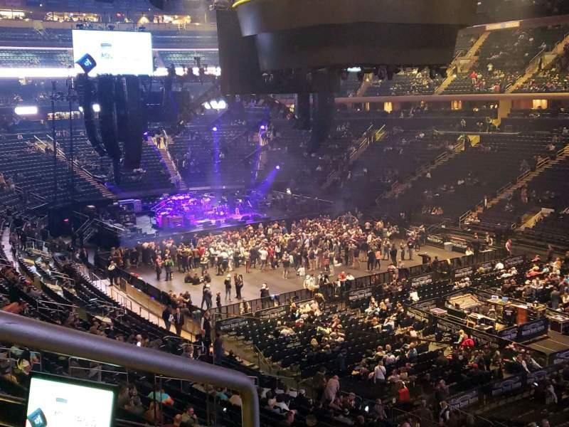 Vistas desde el asiento para Madison Square Garden Sección 201 Fila 3 Asiento 1
