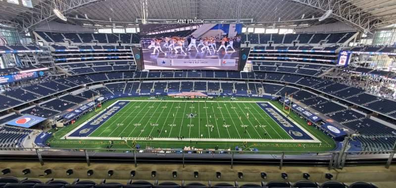 Vistas desde el asiento para AT&T Stadium Sección 443 Fila 4 Asiento 12