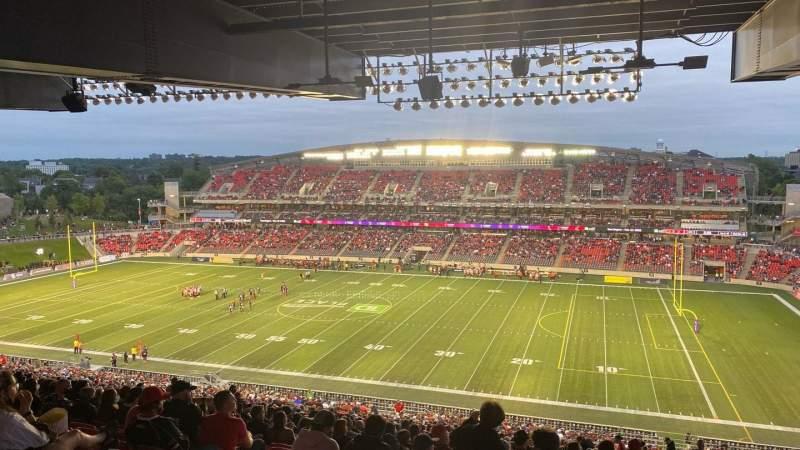 Vistas desde el asiento para TD Place Stadium Sección CC Fila 23 Asiento 11