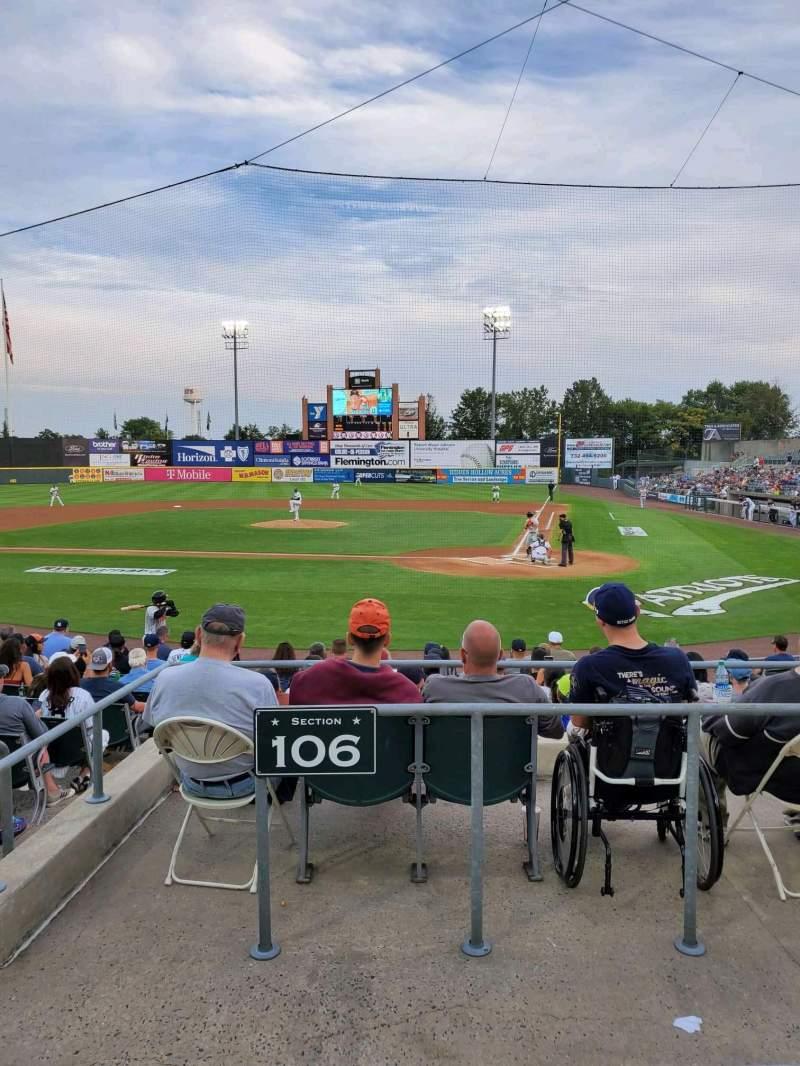 Vistas desde el asiento para TD Bank Ballpark Sección 206 Fila K Asiento 10
