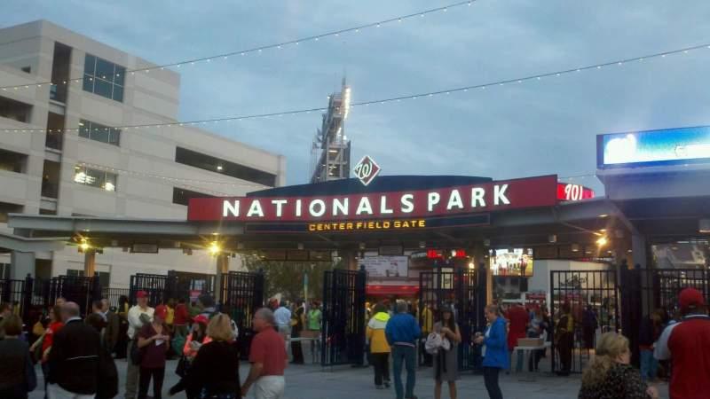 Vistas desde el asiento para Nationals Park