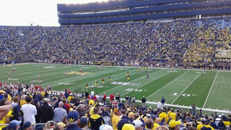 Vistas desde el asiento para Michigan Stadium Sección 42 Fila 35 Asiento 24