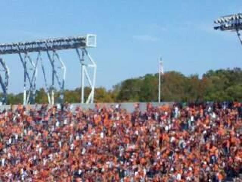 Vistas desde el asiento para Lane Stadium Sección 503 Fila DD Asiento 23