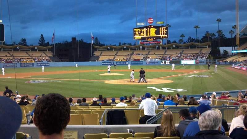 Vistas desde el asiento para Dodger Stadium Sección Field box mvp 3 Fila H Asiento 8