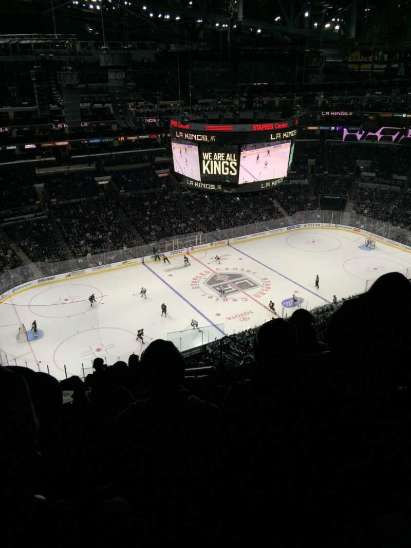 Vistas desde el asiento para Staples Center Sección 304 Fila 11 Asiento 4