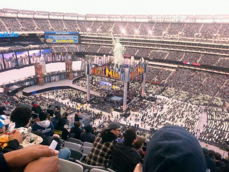 e1556713 MetLife Stadium, sección 335, fila 20, asiento 12 - Wrestlemania 29 ...