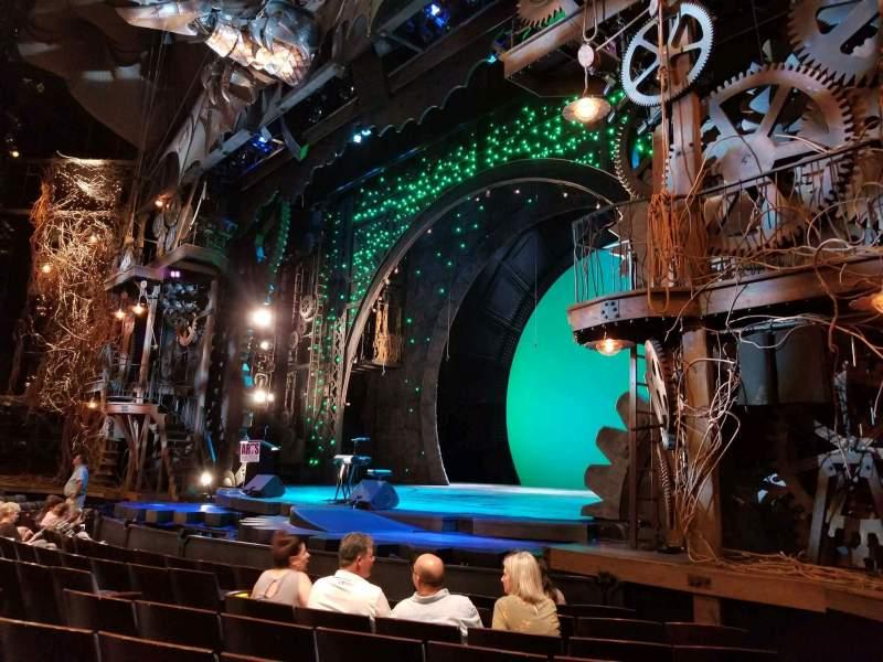 Vistas desde el asiento para Gershwin Theatre Sección Orchestra R Fila D Asiento 20