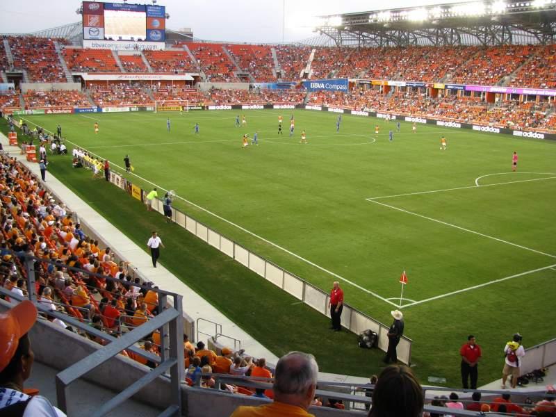 Vistas desde el asiento para BBVA Compass Stadium Sección 201 Fila B Asiento 4