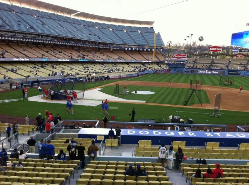 Vistas desde el asiento para Dodger Stadium Sección 132LG Fila A Asiento 1