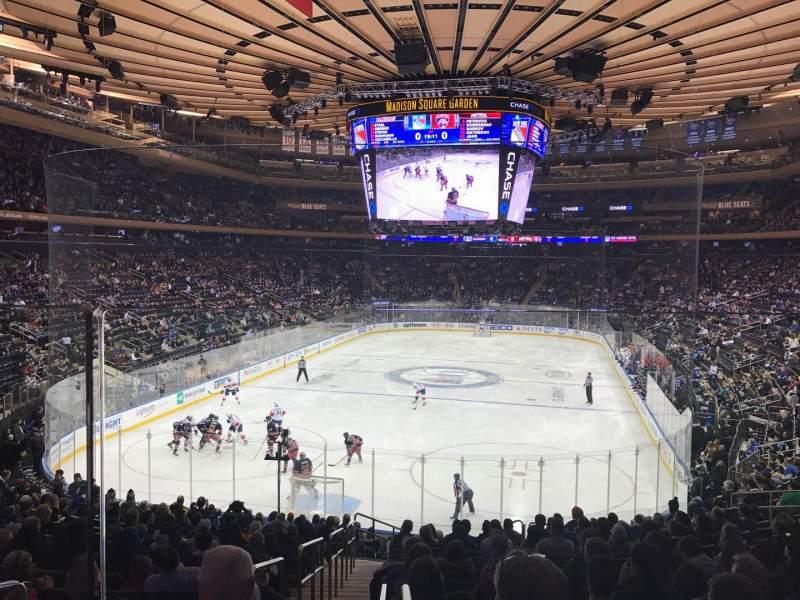 Madison Square Garden, sección: 103WC, fila: 20, asiento: 4