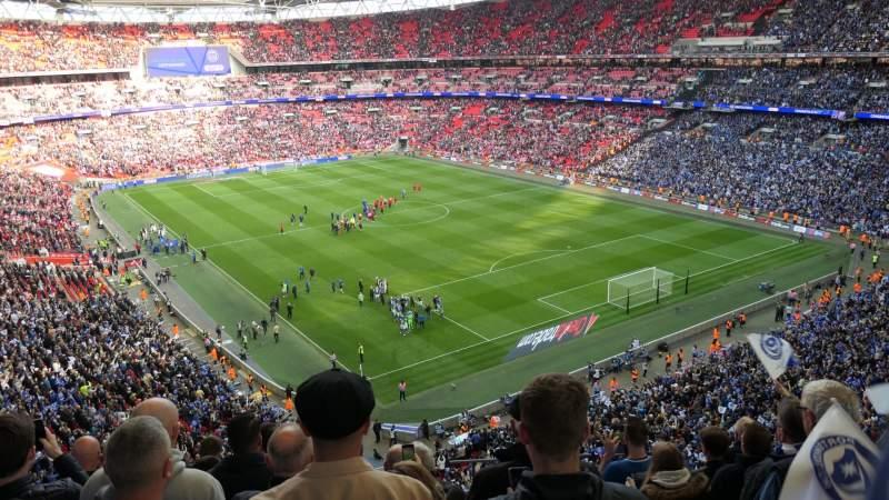 Vistas desde el asiento para Wembley Stadium Sección 544 Fila 7 Asiento 135
