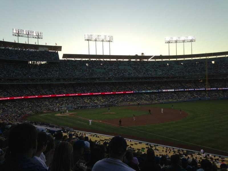 Vistas desde el asiento para Dodger Stadium Sección 156LG Fila K Asiento 2