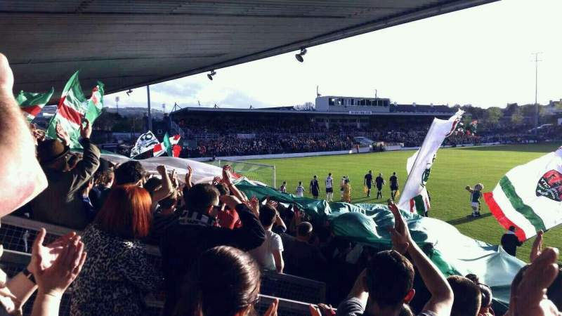 Vistas desde el asiento para Turner's Cross Stadium Sección Shed End