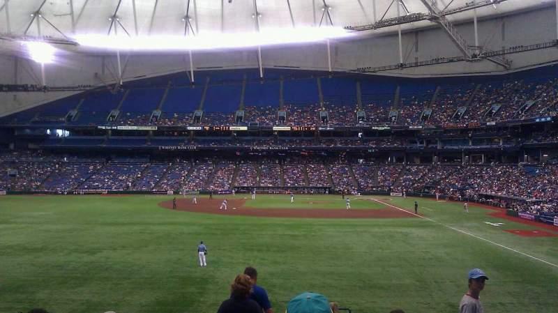 Tropicana Field, sección: 143, fila: JJ, asiento: 24