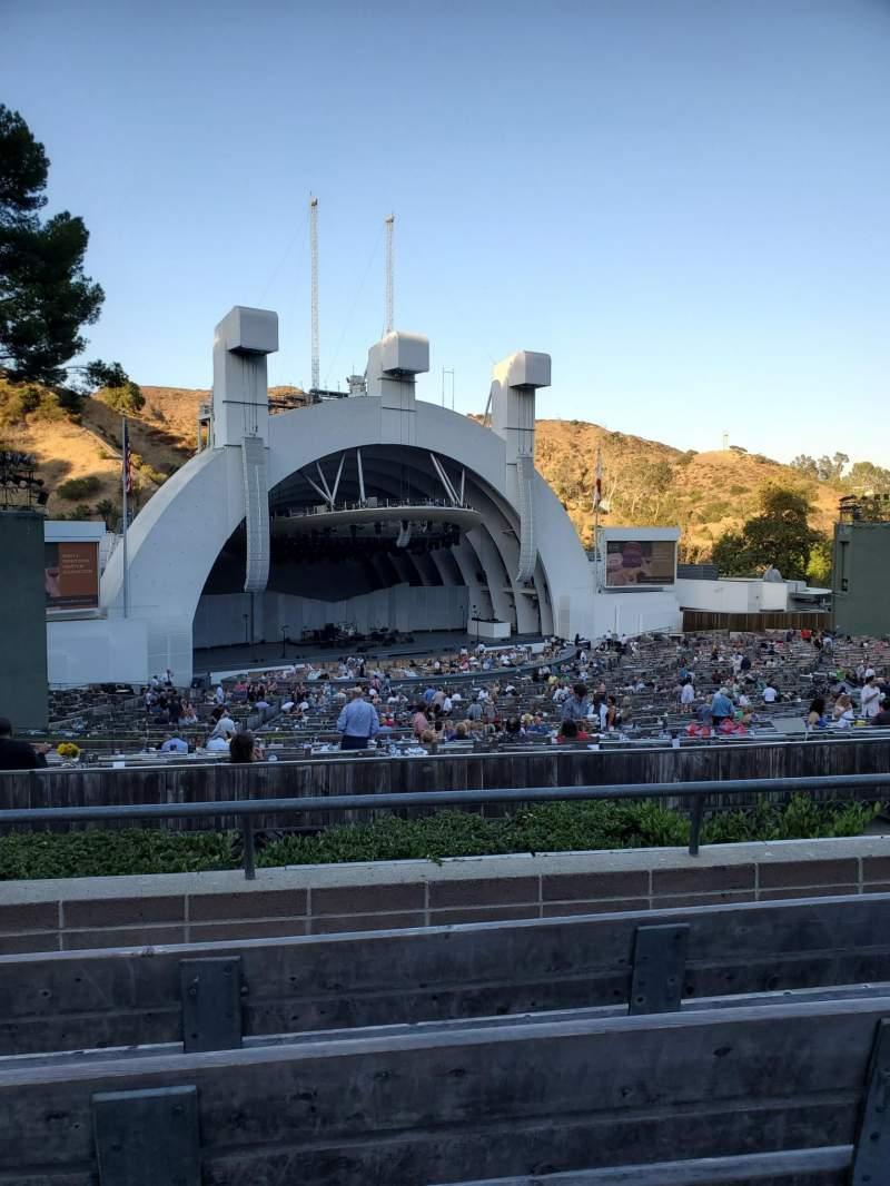 Vistas desde el asiento para Hollywood Bowl  Sección K2 Fila 4 Asiento 105