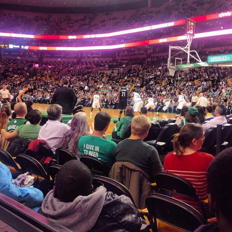 TD Garden, sección: Loge 21, fila: 1 , asiento: 1